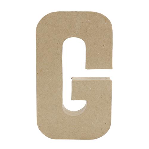 26606 Заготовка из папье-маше, 20,5 см буква G, 1 шт