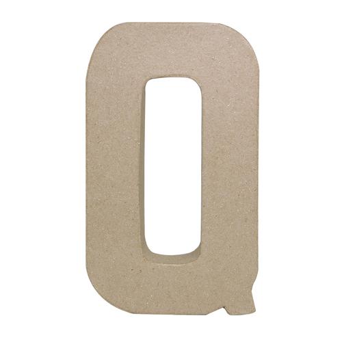 26616 Заготовка из папье-маше, 20,5 см буква Q, 1 шт