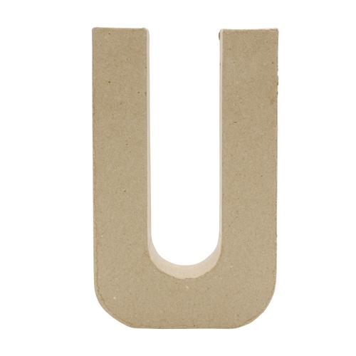 26620 Заготовка из папье-маше, 20,5 см буква U, 1 шт
