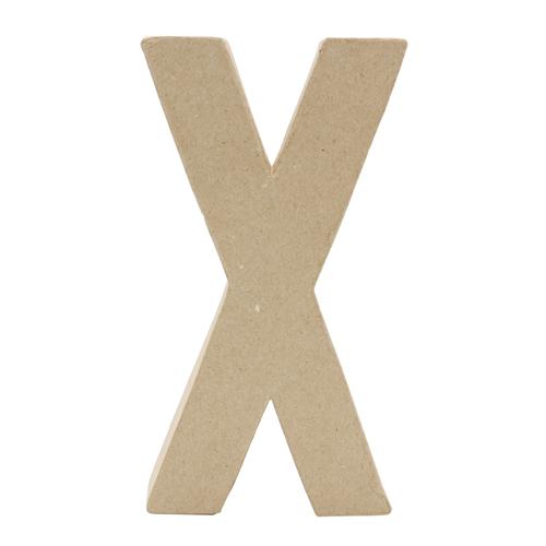 26623 Заготовка из папье-маше, 20,5 см буква X, 1 шт