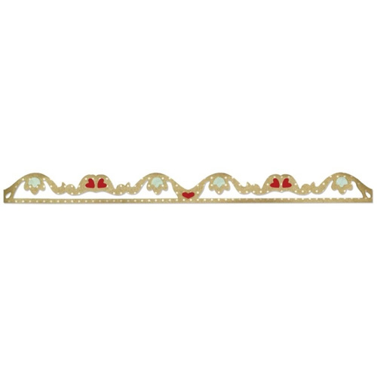 658921 Форма для вырубки Романтические рюши Sizzlits Decorative Strip Die