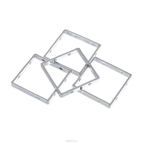 FIMO Аксессуар для украшений, квадратная форма 10 х10 мм. 4 шт. арт.8625-23