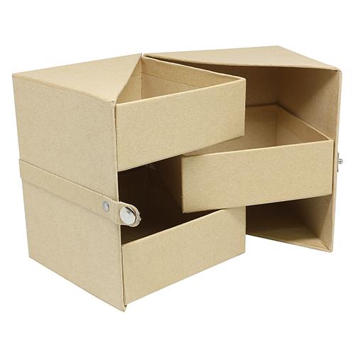 Заготовка из папье-маше Многоуровневая коробочка 10x10x12см SCB271052