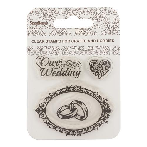SCB4907083 Набор штампов 7*7 см. Наша свадьба ( англ. )