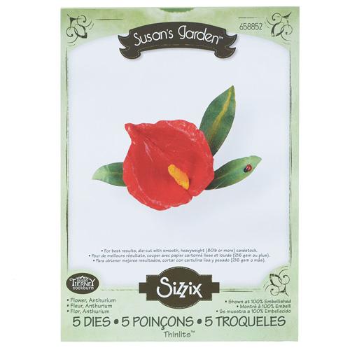 Форма для вырубки Цветок Антуриум 5 шт Thinlits Die 658852