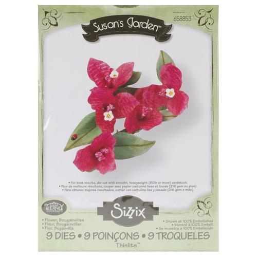 Форма для вырубки Цветок Бугенвиль 9 шт Thinlits Die 658853