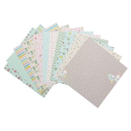 SCB220611109 Набор бумаги 15*15 см 190 гр/м, Наша кроха, 12 листов