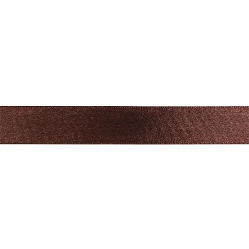HY020074X Лента атласная 20мм*22,86м, Цв. № 074 Темный шоколад