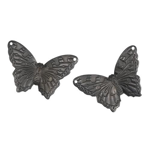 AP0008RR Металлическая подвеска Бабочка Летняя Синева 25*33,5мм 2 шт