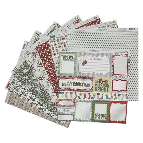 TRA012 Набор бумаги 30*30 см 18 листов 1 лист стикеров Authentique Traditions