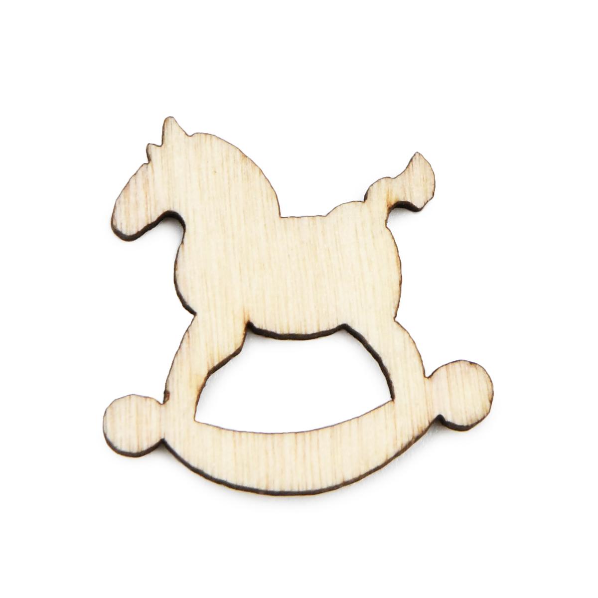 HY10405 Деревянная лошадка-качалка, 1,5 см, 10 шт