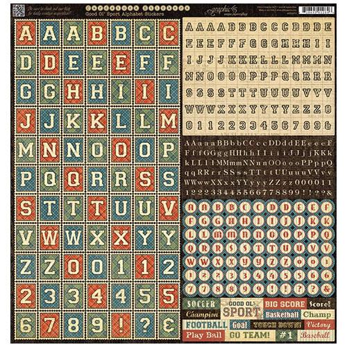 4500870 Стикеры Good Ol' Sport Alphabet