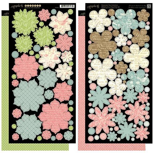 4500891 Стикеры Botanical Tea Flowers
