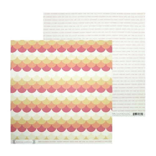 DS1002 Бумага 30*30 см Teresa Collins Ombre Circles
