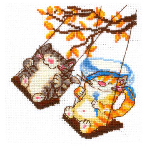 В-15 Набор для вышивания 'Веселые качели', 14*14 см