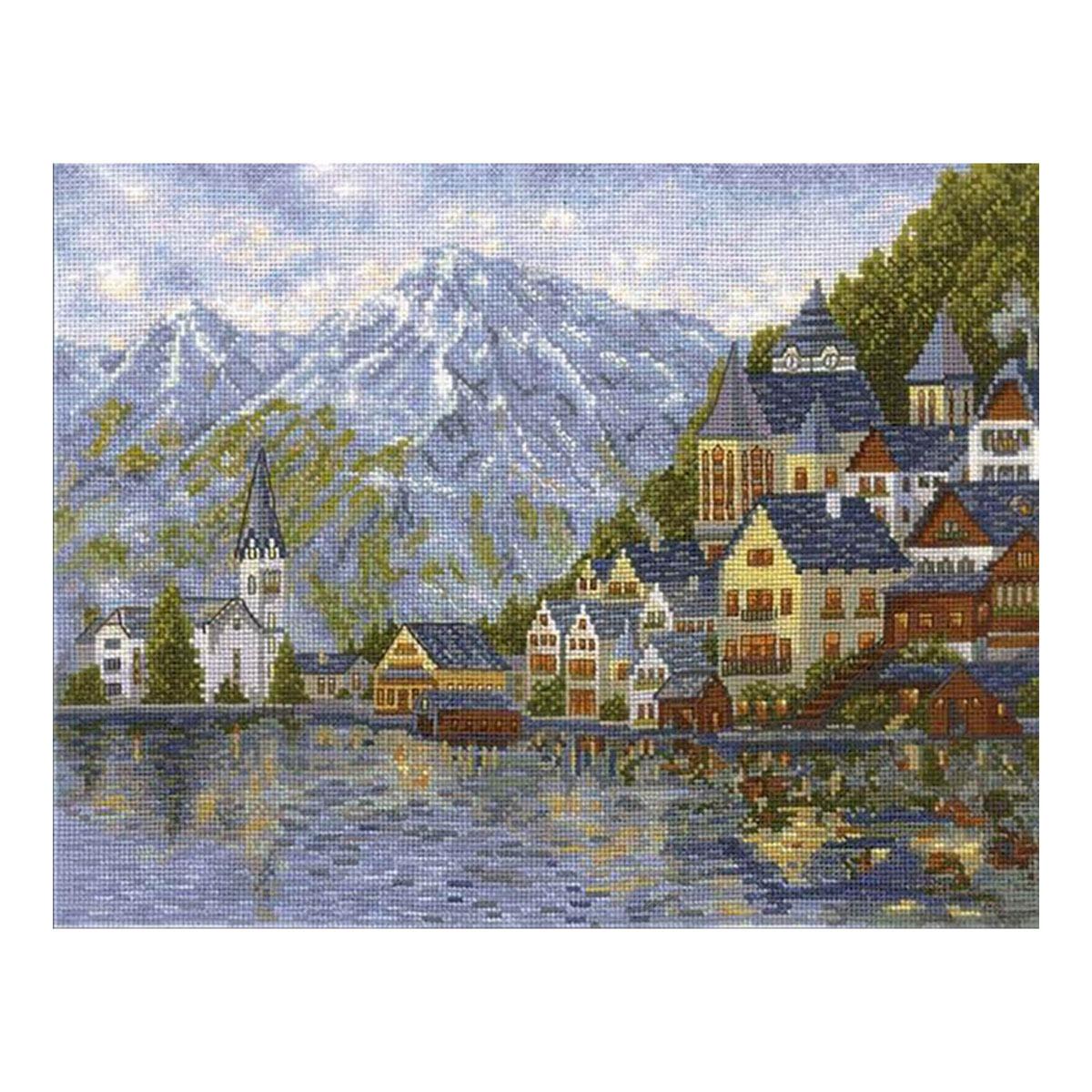 Ж-03 Набор для вышивания ''Женевское озеро', 36*27 см