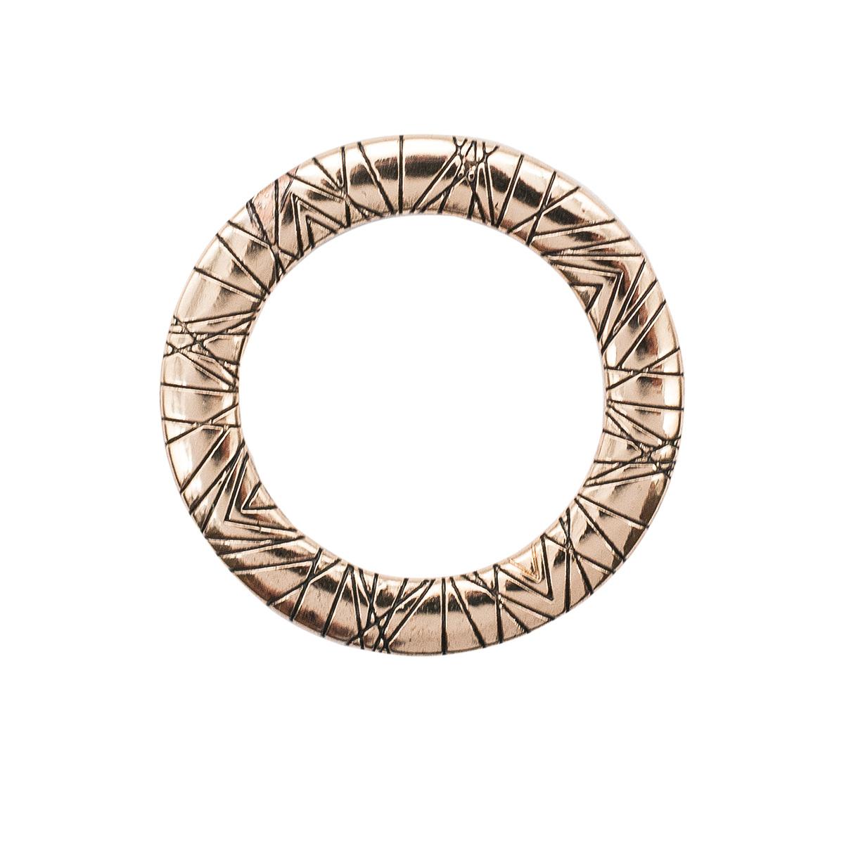 ГНУ13858 Кольцо 20мм (золото/черный)