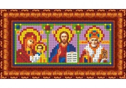 КБИ-6001 Канва с рисунком для бисера 'Триптих', А6
