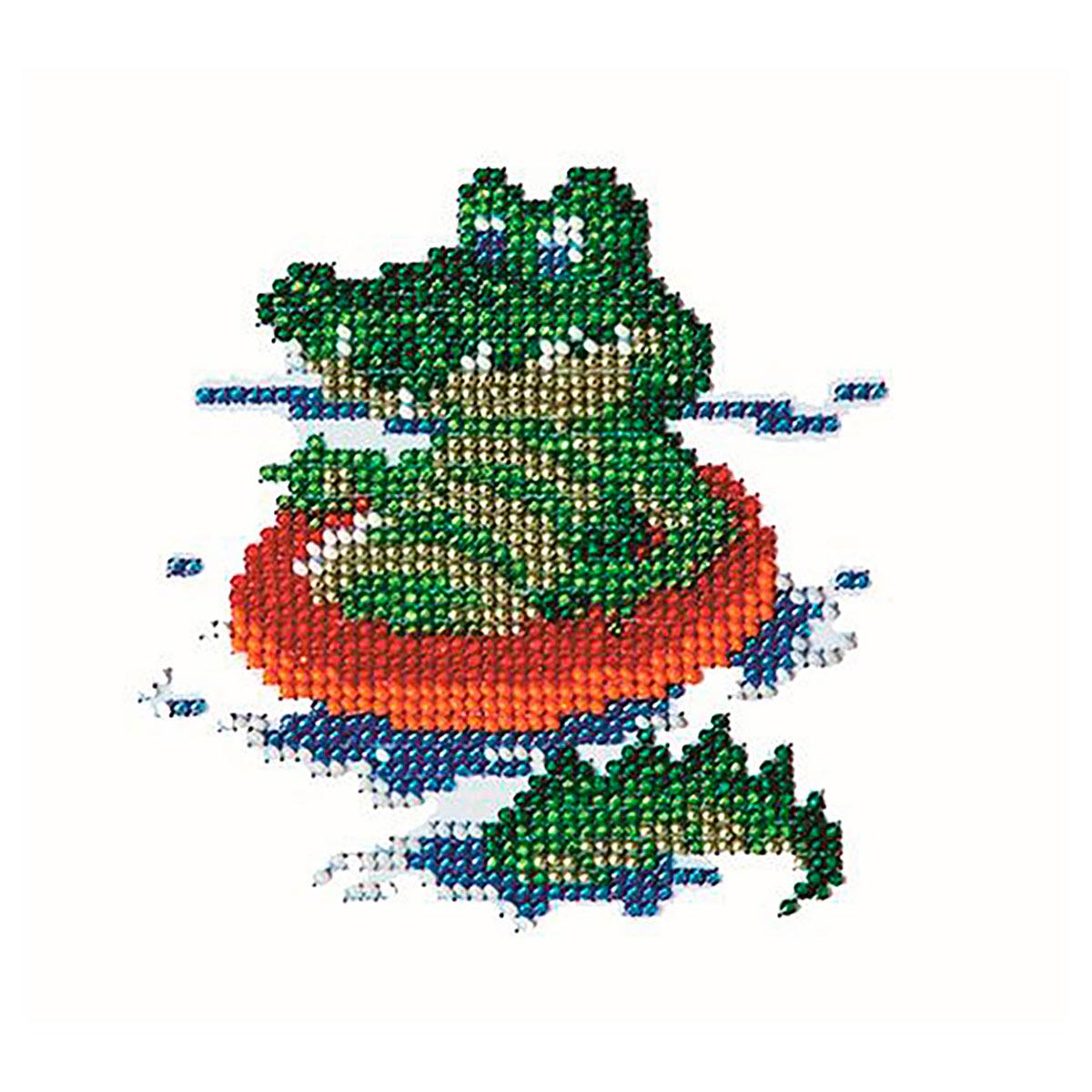 Б-0031 Набор для вышивания бисером 'Бисеринка' 'Крокодил', 11*11 см