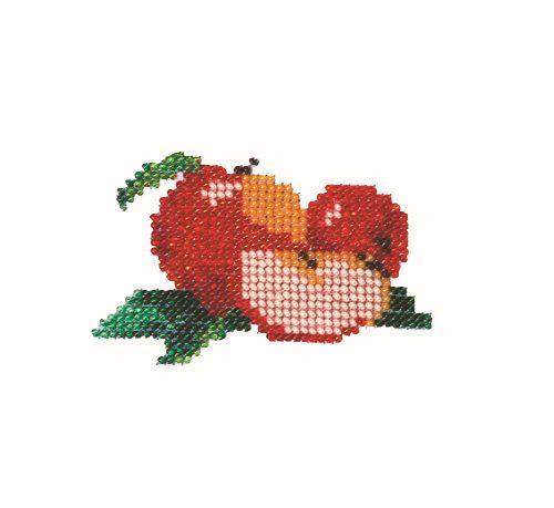 Б-0006 Набор для вышивания бисером 'Бисеринка' 'Яблочки', 9*7 см