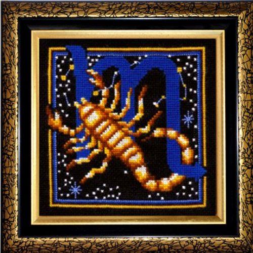 З-17 Набор для вышивания 'Знаки зодиака. Скорпион', 16*16 см