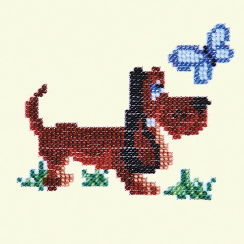Б-0029 Набор для вышивания бисером 'Бисеринка' 'Собачка', 9*11 см