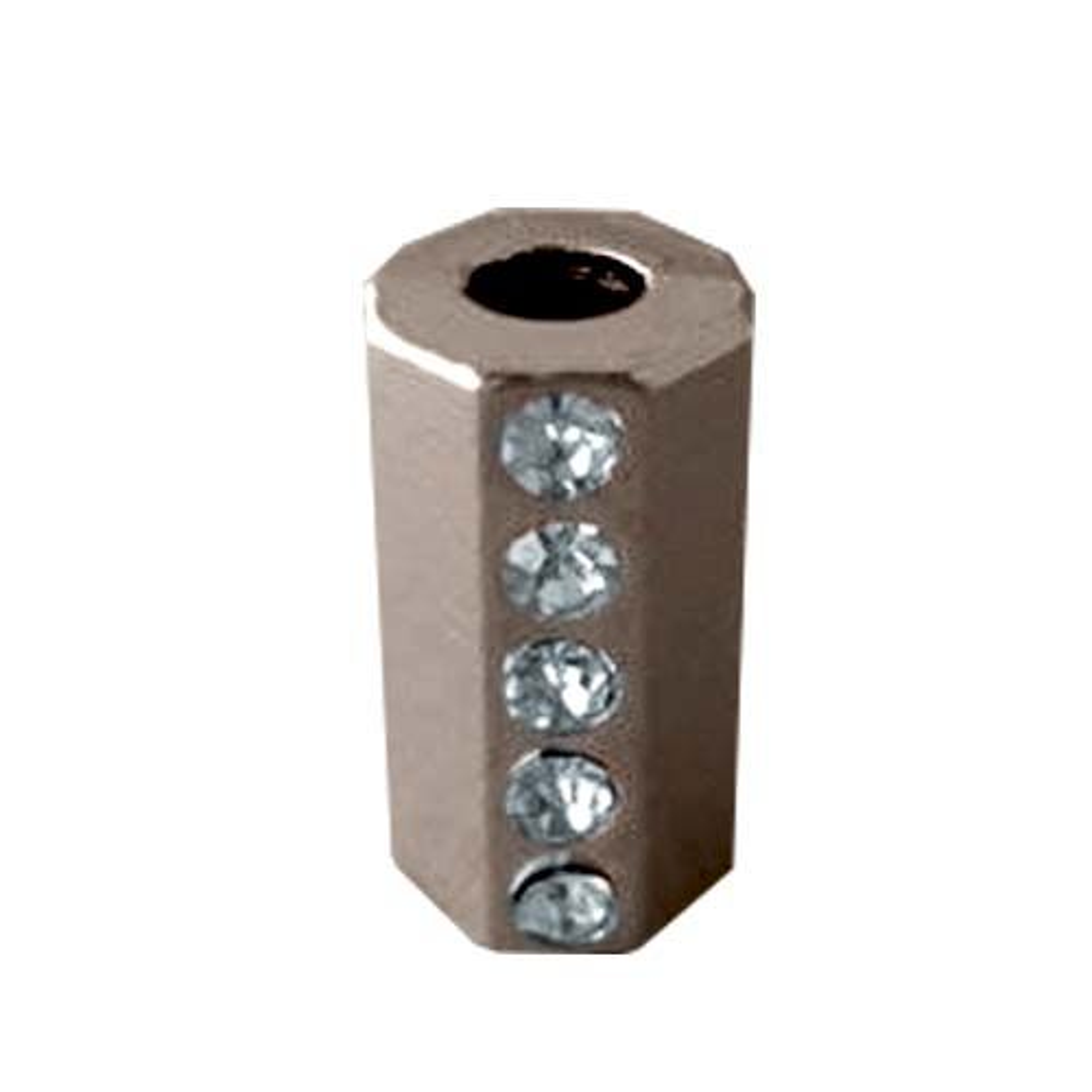 ГФУ6103 Наконечник 'Цилиндр' со стразами d=3,5/7мм, 15,5*8,5мм, металл