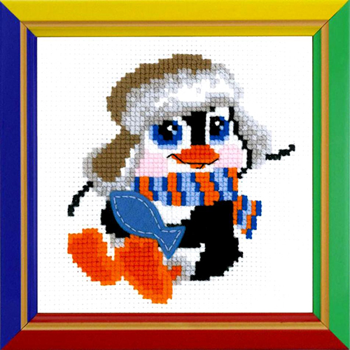 НВ-158 Набор для вышивания Riolis 'Пингвиненок', 15*15 см