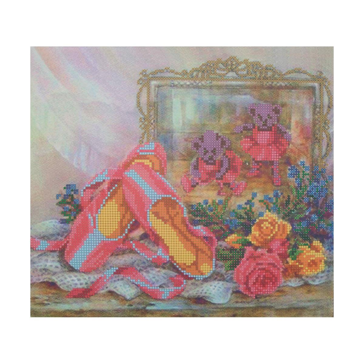 НР-3040 Канва с рисунком для вышивания бисером 'В зазеркалье' Hobby&Pro 25*28см