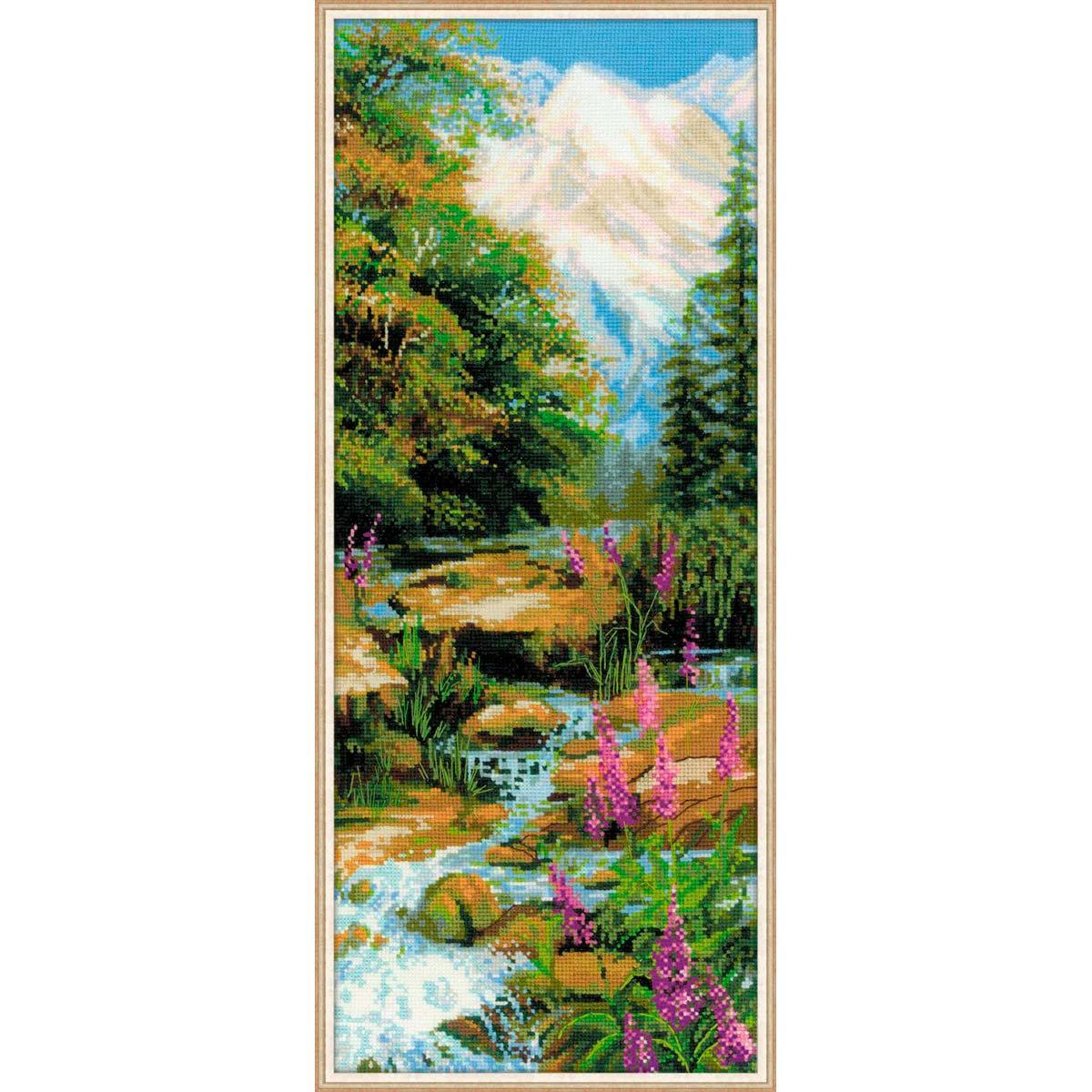 1487 Набор для вышивания Riolis 'Горный ручей', 20*50 см
