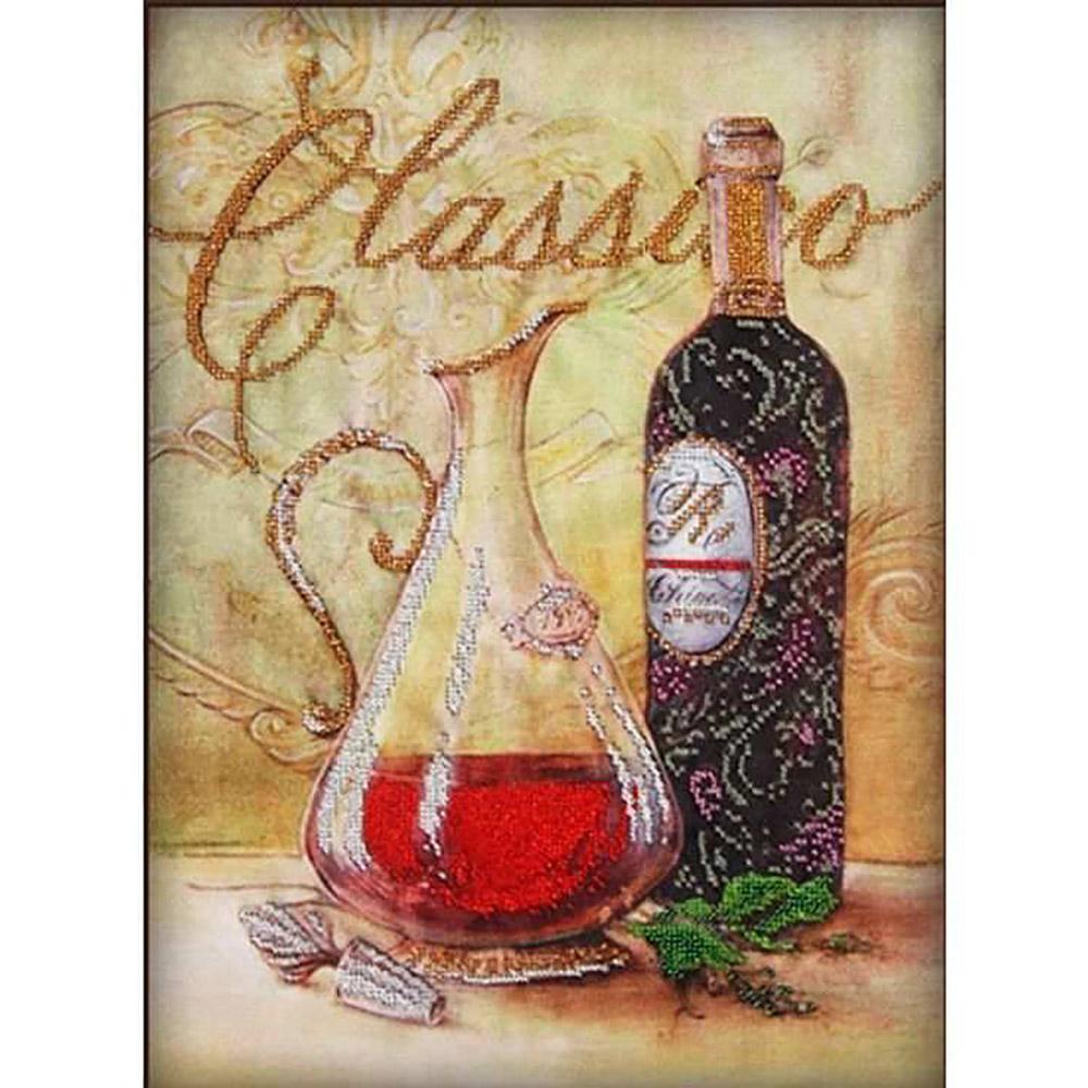 50114 Набор для вышивания бисером Astrea 'Графин и вино', 30х40 см
