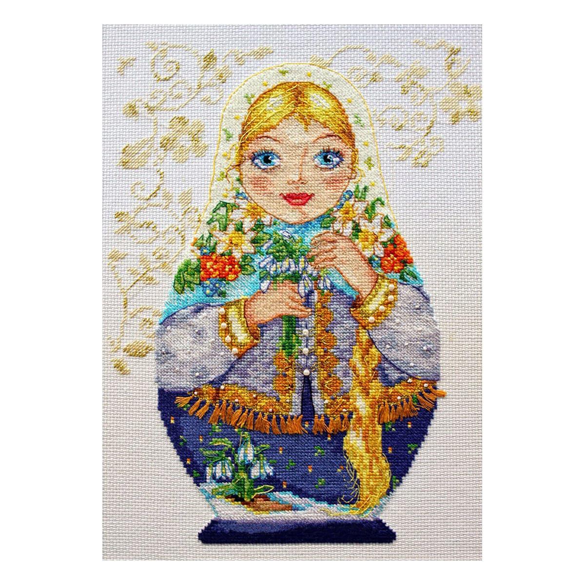 6-04 Набор для вышивания АЛИСА 'Матрешки. Весна-красна' 19*26см