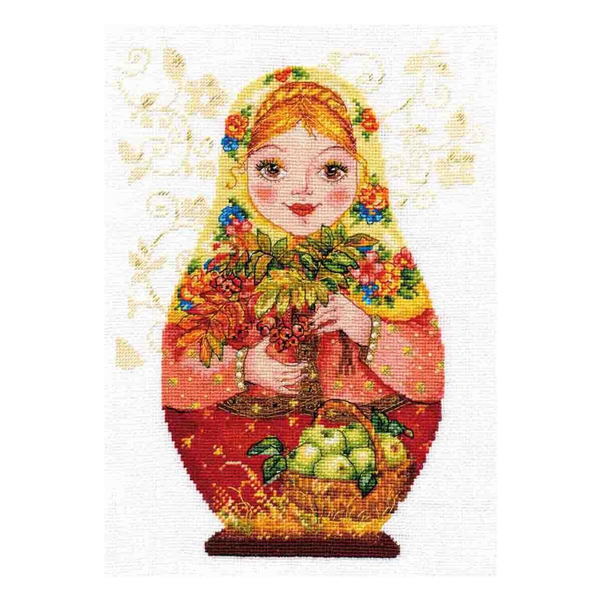 6-06 Набор для вышивания АЛИСА 'Матрешки. Осенняя краса' 19*26см