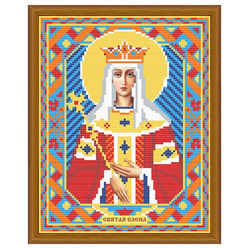 АЖ-2004 Картина стразами 'Алмазная живопись' 'Икона Святая Елена', 22*28 см