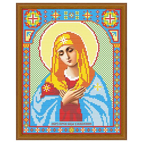 АЖ-2006 Картина стразами 'Алмазная живопись' 'Икона Умиление', 22*28 см