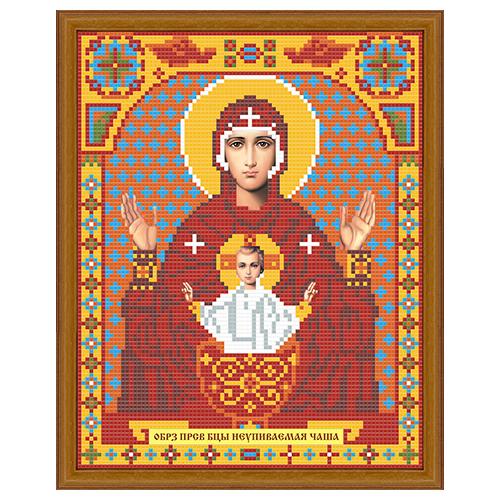 АЖ-2011 Картина стразами 'Алмазная живопись' 'Икона Неупиваемая Чаша', 22*28 см