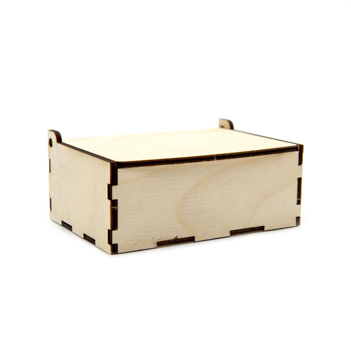 L-271 Деревянная заготовка коробочка 12*8*4,5см, 3мм толщ.фанеры, Astra&Craft