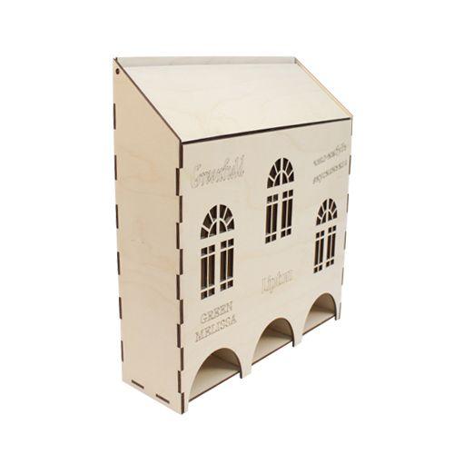 L-291 Деревянная заготовка 'Чайный домик высокий' 3 секции, 25*8*29 см, 'Астра'