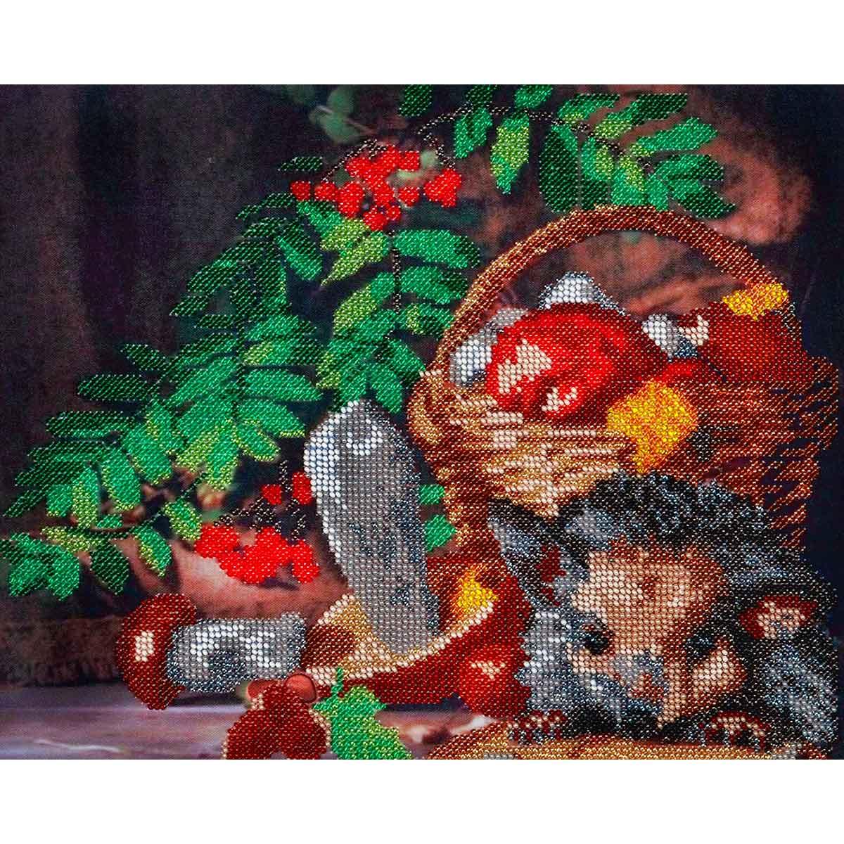 БН-3079 Набор для вышивания бисером Hobby&Pro 'Дары осени', 31*25 см