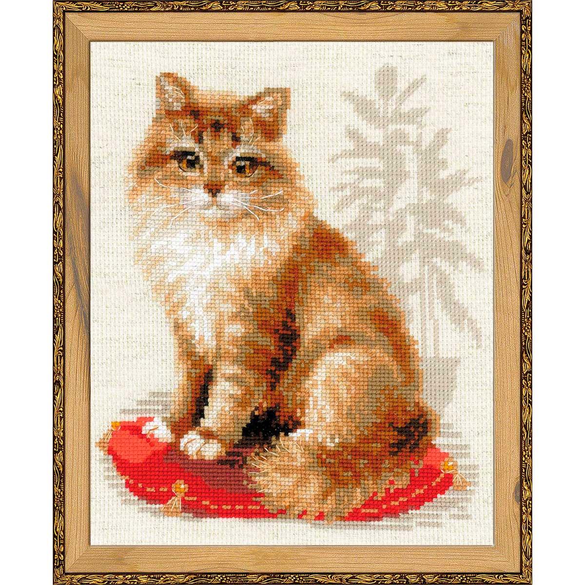 1525 Набор для вышивания Riolis 'Кошка домашняя', 24*30 см