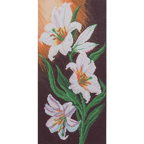 1067 Канва с рисунком 'Матренин посад' 'Белоснежная элегантность', 24*47 см