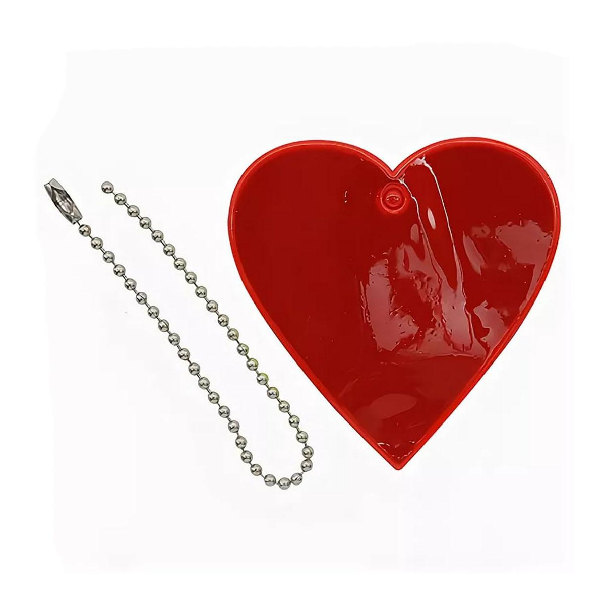 Световозвращатель подвеска 'Сердце', ПВХ, 5,5 см