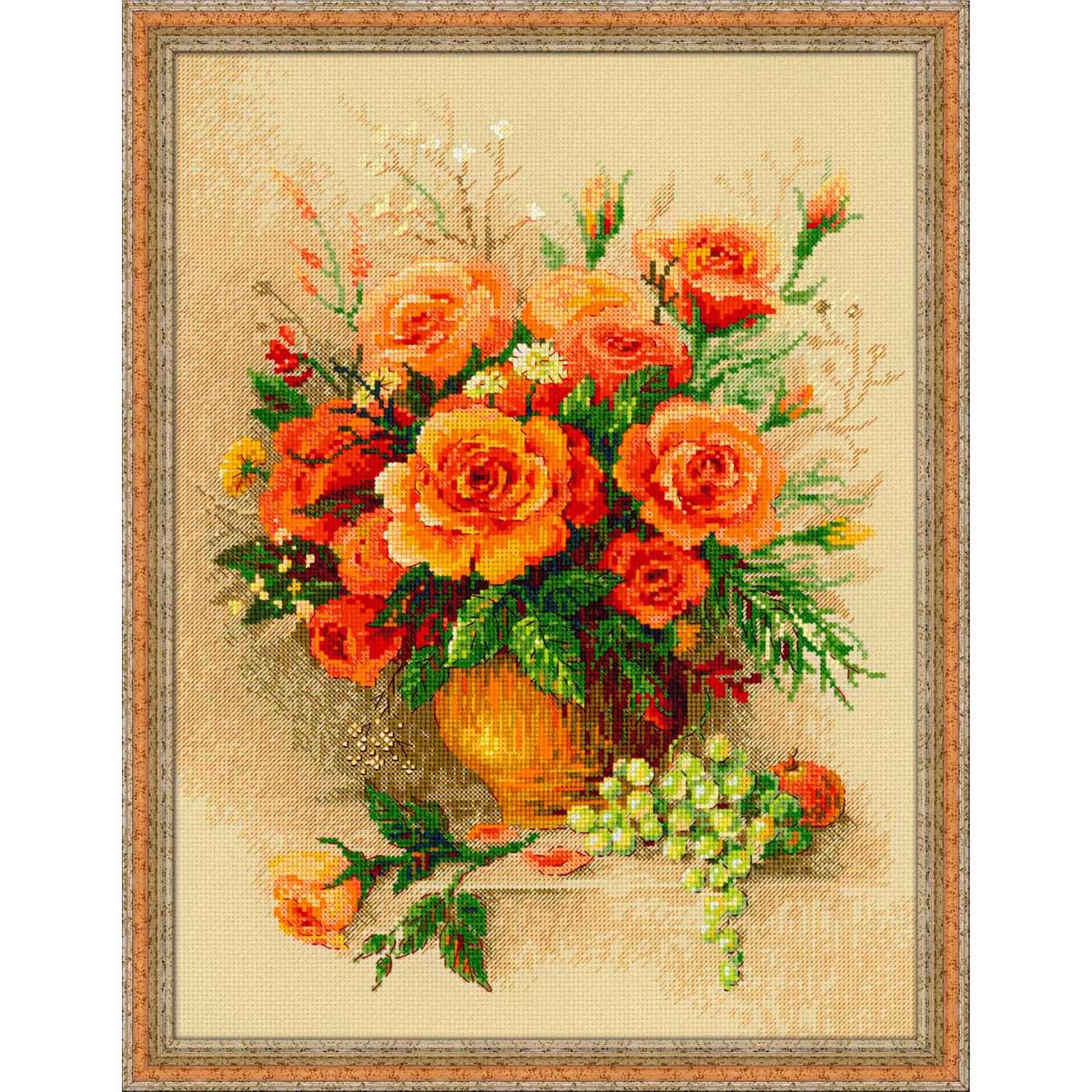 100/049 Набор для вышивания Riolis 'Чайные розы', 30*40 см
