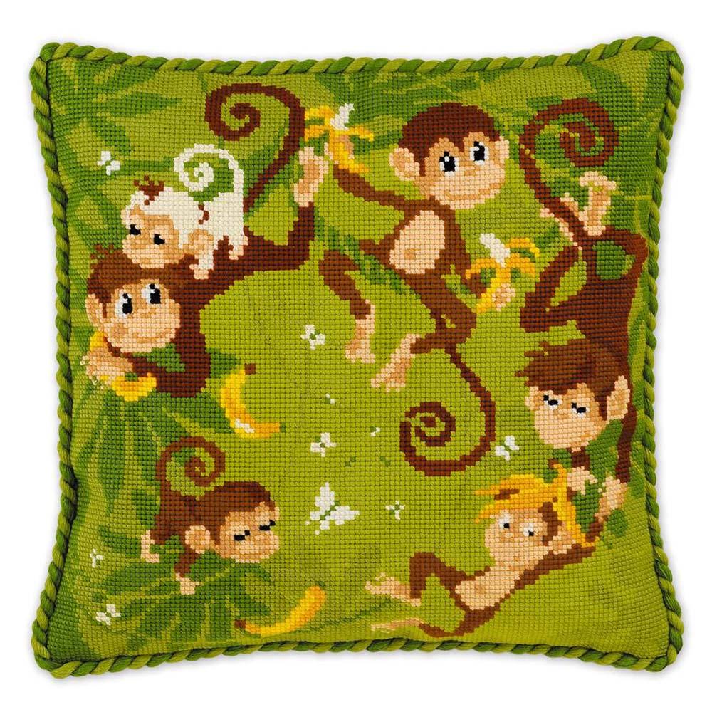 1534 Набор для вышивания Riolis подушка 'Джунгли', 30*30 см фото