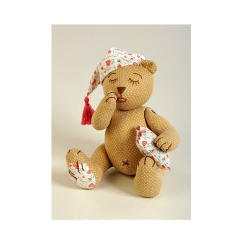 ПСН-901 Набор для изготовления текстильной игрушки 'Спящий Мишка', 20,5 см, 'Перловка'