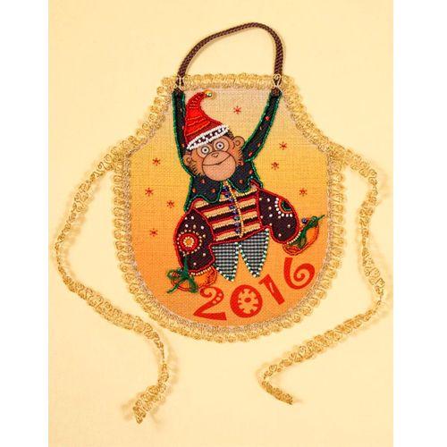 8267 Набор для шитья и вышивания 'Матренин посад' фартук 'Мартышка-шалунишка', 14*18 см