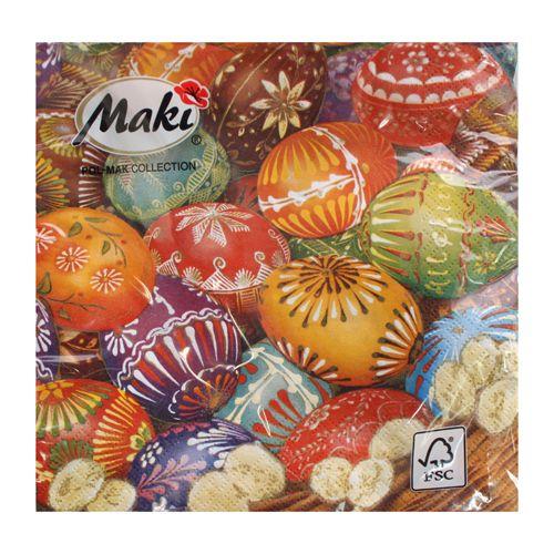 Салфетки Maki, 33х33х3сл., 20 шт