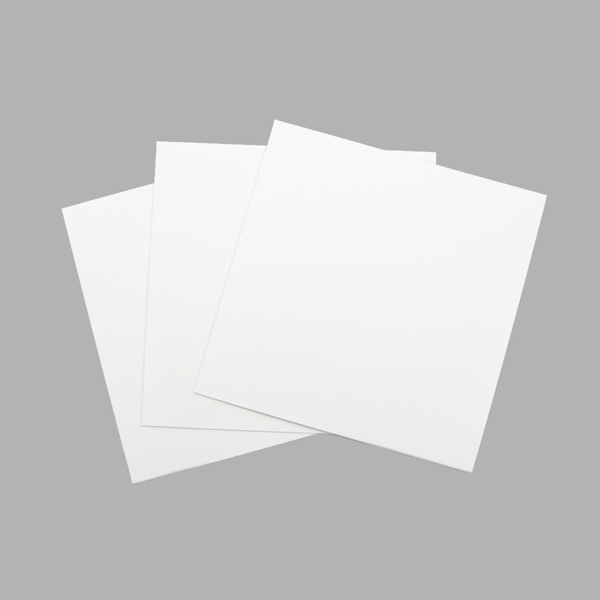 О23024 Открытка двойная белая матовая, 16х16 см, упак./3 шт.