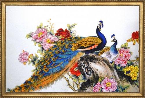 012-РТ Набор для вышивания ОВЕН 'Конголезский павлин'