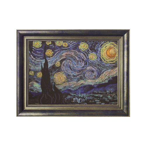 0116 Набор для выкладывания стразами 'Звездная ночь' 28х38 см